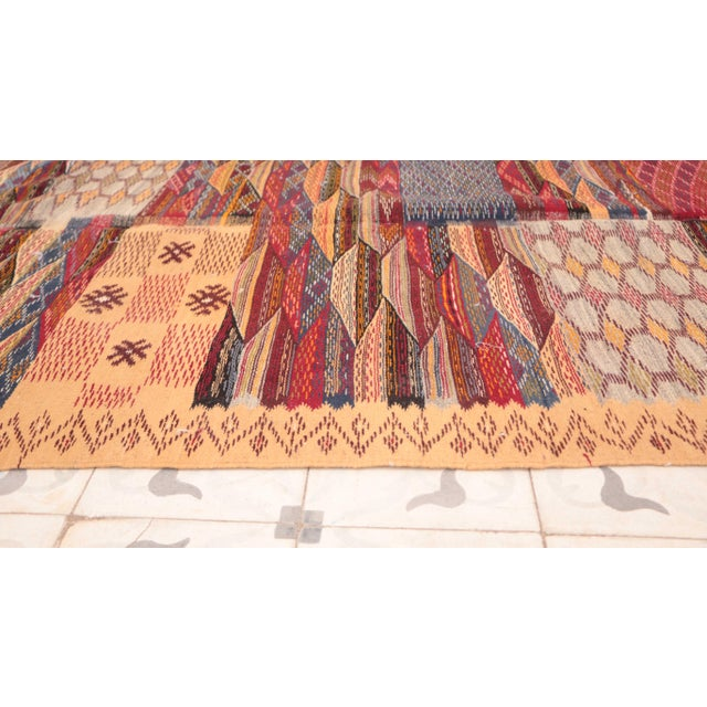 """Islamic Aknif Moroccan Rug - 3'7"""" x 5'5"""" For Sale - Image 3 of 4"""