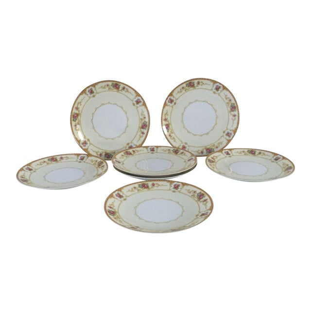 Vintage Noritake Floral Dessert Plates - Set of 7 For Sale
