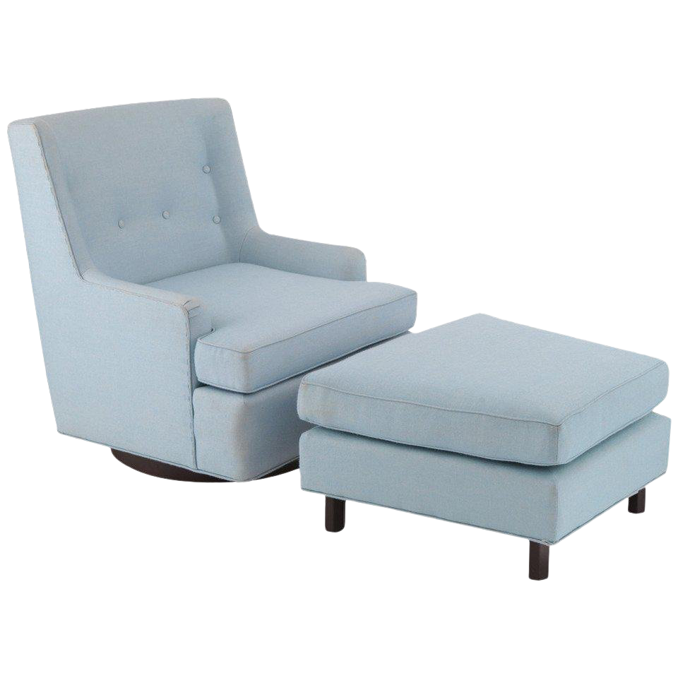 Edward Wormley Dunbar Lounge Chair And Ottoman For Sale