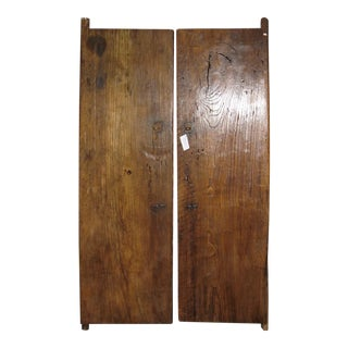 Vintage Chinese Wooden Doors - A Pair For Sale