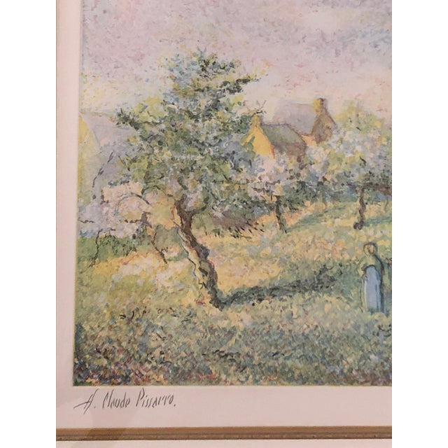 1900s Impressionist Print of Framed Trees in Bloom Aquatint Signed by H Claude Pissarro For Sale - Image 4 of 12