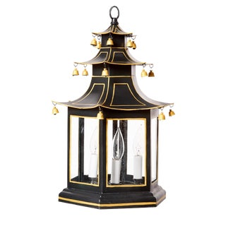 Three-Tier Pagoda Top Tole Lantern For Sale