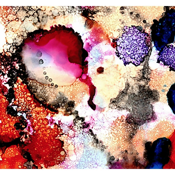 Paper Abstract Unframed Ink Print For Sale - Image 7 of 7