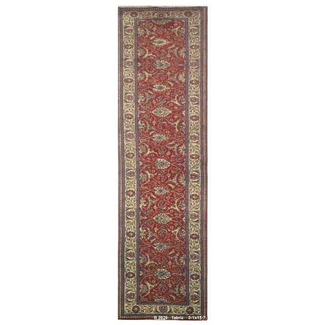Vintage Persian Tabriz Rug - 3'1''x15'7'' - Image 1 of 2