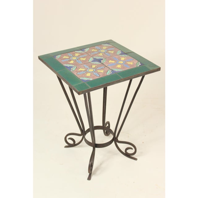 1930s Art Deco Tile Top Occasional Table For Sale - Image 11 of 11
