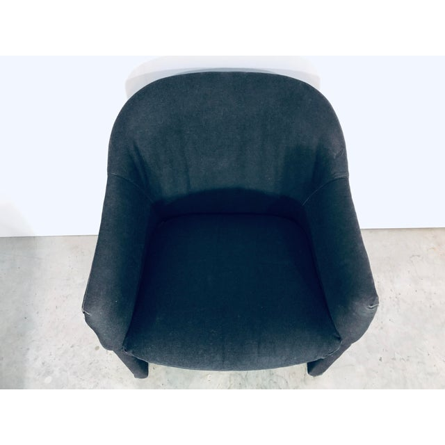 Textile Thayer Coggin Black Denim Dining Arm Chairs- a Pair For Sale - Image 7 of 13