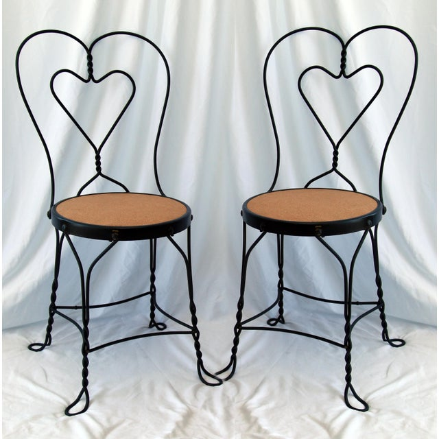 1950s Vintage Ice Cream Parlor Chairs- a Pair For Sale In Los Angeles - Image 6 of 6