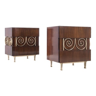 Edmund Spence Pair of End Tables or Nightstands For Sale
