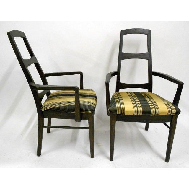 Mid-Century Black Teak Dining Chairs - Set of 6 - Image 8 of 8