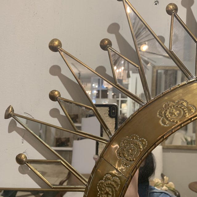 Vintage Starburst Wall Mirror For Sale - Image 10 of 13