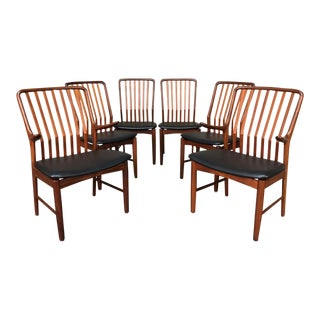 Svend Madsen for Moreddi Mid-Century Modern Teak Dining Chairs - Set of 6 For Sale