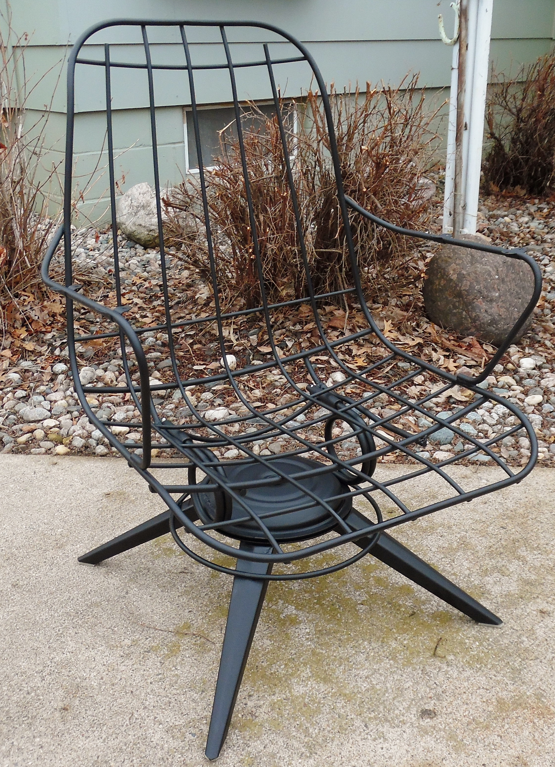 wire furniture. Homecrest Mid-Century Wire Lounge Chairs - A Pair Image 2 Of 8 Furniture