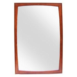 Mid-Century Wanut & Pecan Extra Large Mirror For Sale