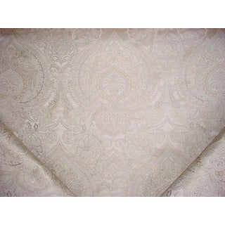 Traditional Kravet Couture Monticello Mist Silk Damask Drapery Upholstery Fabric - 14y For Sale