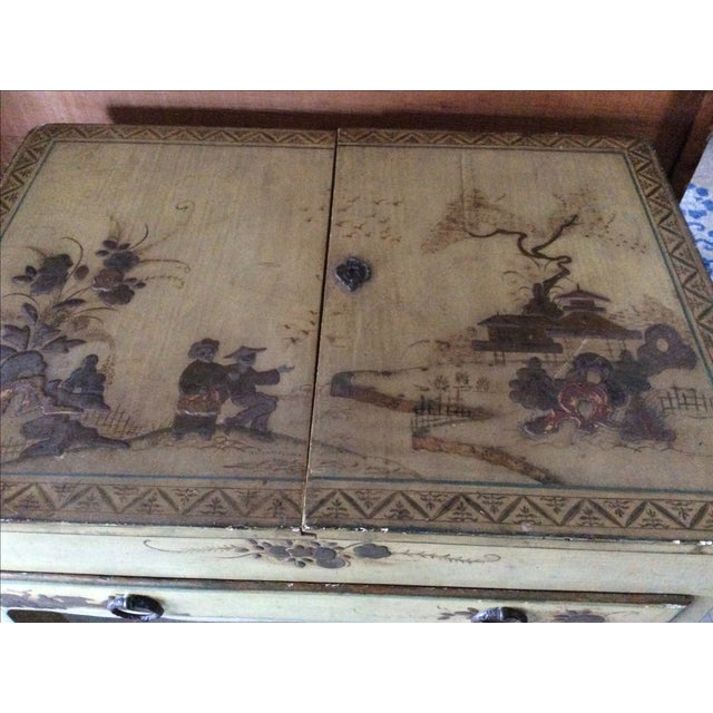 Shabby Chic Vintage Chinoiserie Vanity - Image 7 of 9