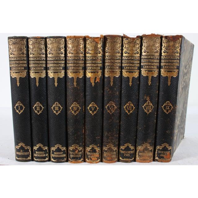 Art Deco Leather Books - Set of 9 - Image 2 of 3