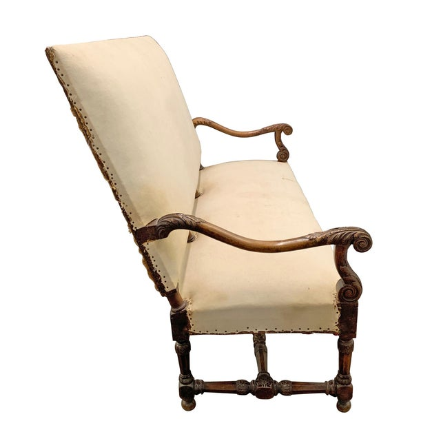 17th Century Louis XIV Settee For Sale - Image 5 of 11