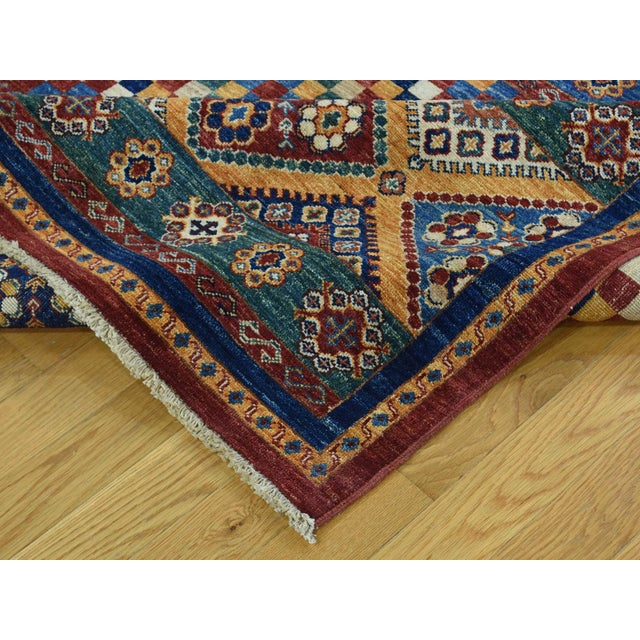 Textile Kazak Khorjin Hand-Knotted Pure Wool Rug For Sale - Image 7 of 13