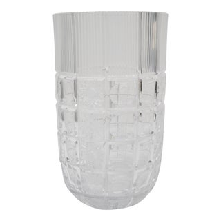 Traditional Cut Crystal Vase For Sale