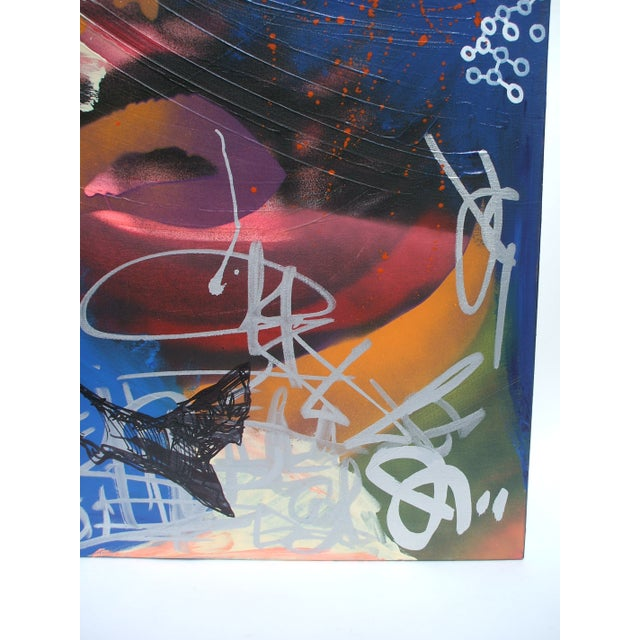 Mixed Media Abstract Painting - Image 2 of 4