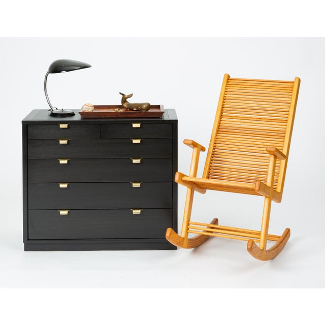 Mid-Century Modern Ebonized Chest of Drawers From Edward Wormley's Precedent Collection for Drexel For Sale - Image 3 of 13