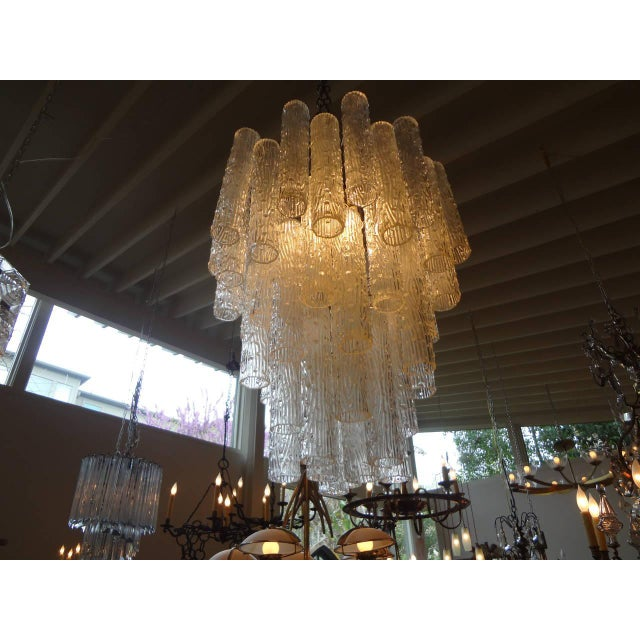 Mid Century Venini Style Murano Glass Tronchi Chandelier For Sale In Houston - Image 6 of 7