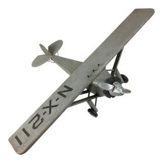 1970s Vintage Spirit of St Loius Wood Model Plane For Sale