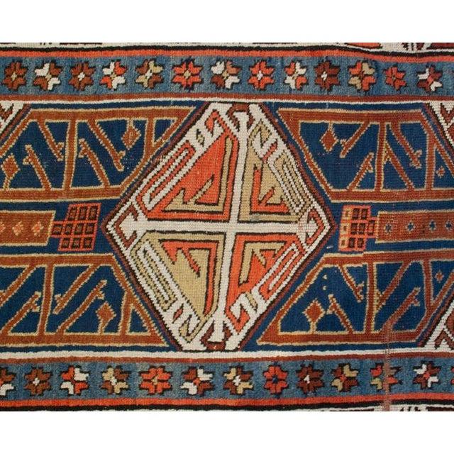 """Islamic 19th Century Kazak Runner - 49"""" x 168"""" For Sale - Image 3 of 4"""