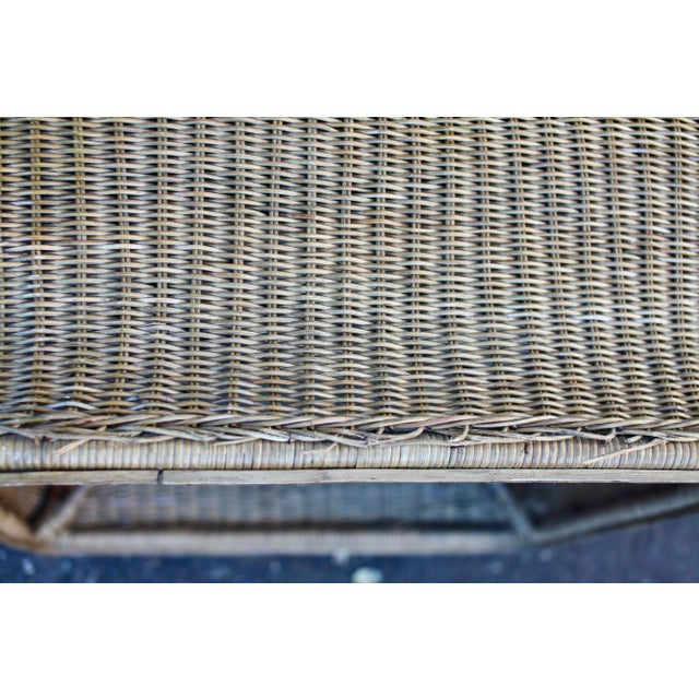 1970s Vintage Scultpural Wicker Seating Set- 5 Pieces For Sale - Image 11 of 13