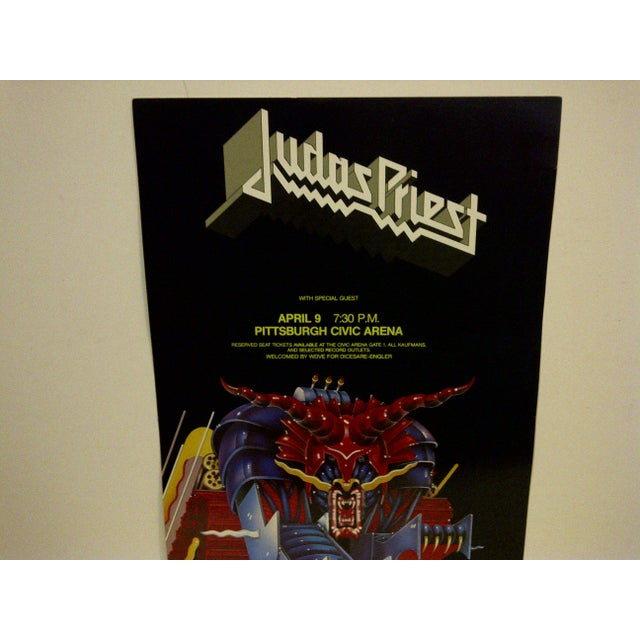 Modern Judas Priest Concert Poster, Pittsburgh 1984 For Sale - Image 3 of 5