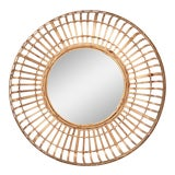 Image of Bamboo Basket Mirror For Sale