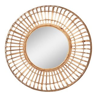 Bamboo Basket Mirror For Sale