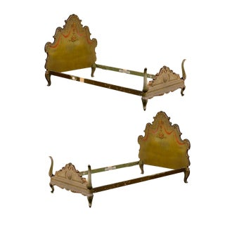 19th Century Venetian Style Twin Beds - a Pair For Sale