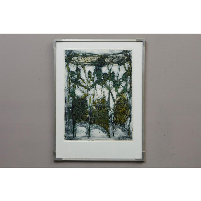Abstract Bruce Onobrakpeya Nomorere Print For Sale - Image 3 of 11