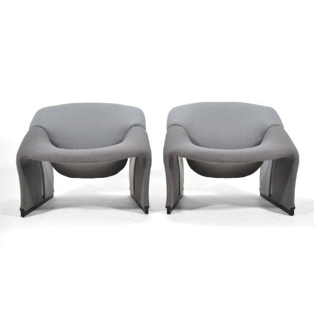 Mid-Century Modern Pair of Pierre Paulin Model F580 Lounge Chairs by Artifort For Sale - Image 3 of 12
