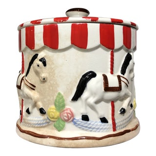 Vintage Japanese Carousel Cookie Jar For Sale