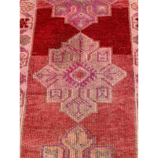 Vintage Turkish Oushak Red Runner- 2′10″ × 12′10″ For Sale - Image 4 of 9