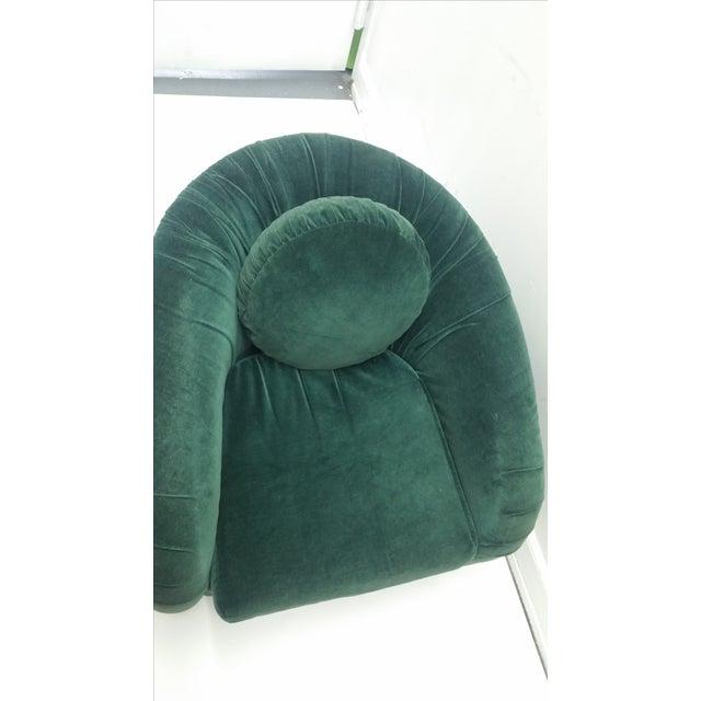 80's Rushed Velvet Swivel Chair - Image 6 of 6
