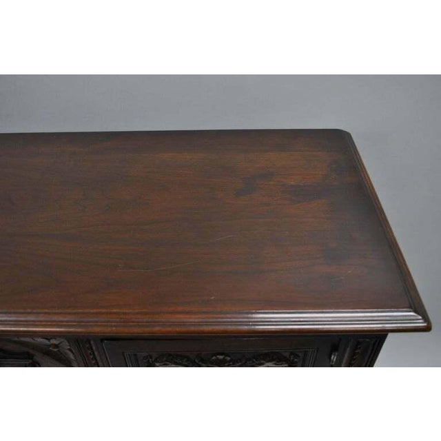 Wood Antique Renaissance Revival Figural Carved Walnut Cabinet For Sale - Image 7 of 11