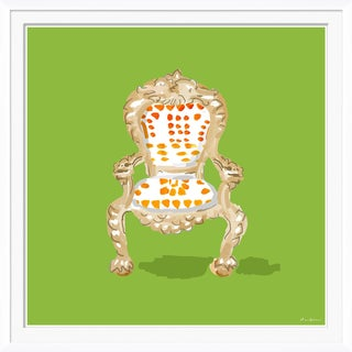 """Palace Chair, Green"" By Dana Gibson, Framed Art Print For Sale"