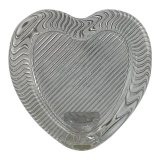 1980s Modern Glass Heart Shaped Portrait Photo Frame For Sale