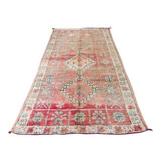 """Vintage Moroccan Boujad Boujaad Wool Carpet Berber Rug - 5'4"""" x 8'9"""""""