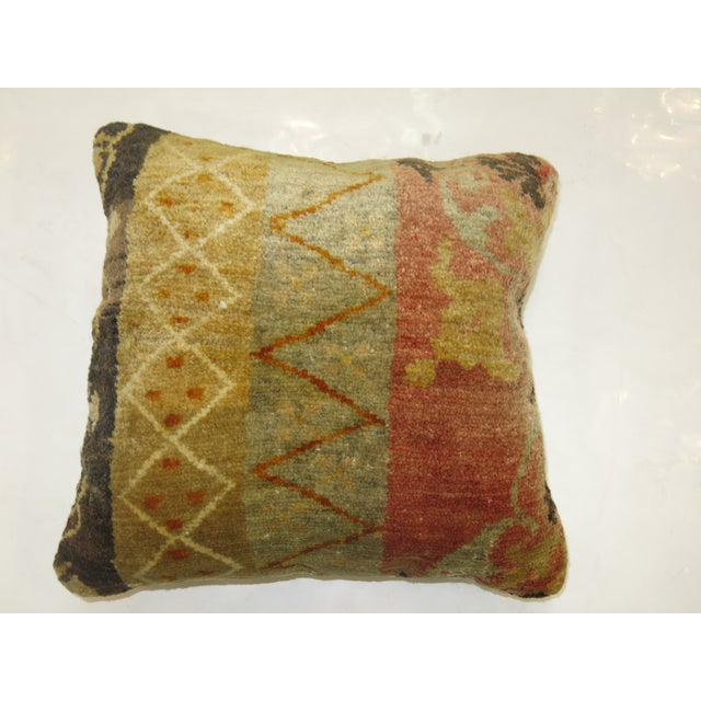 Contemporary Antique Oushak Rug Pillow For Sale - Image 3 of 3