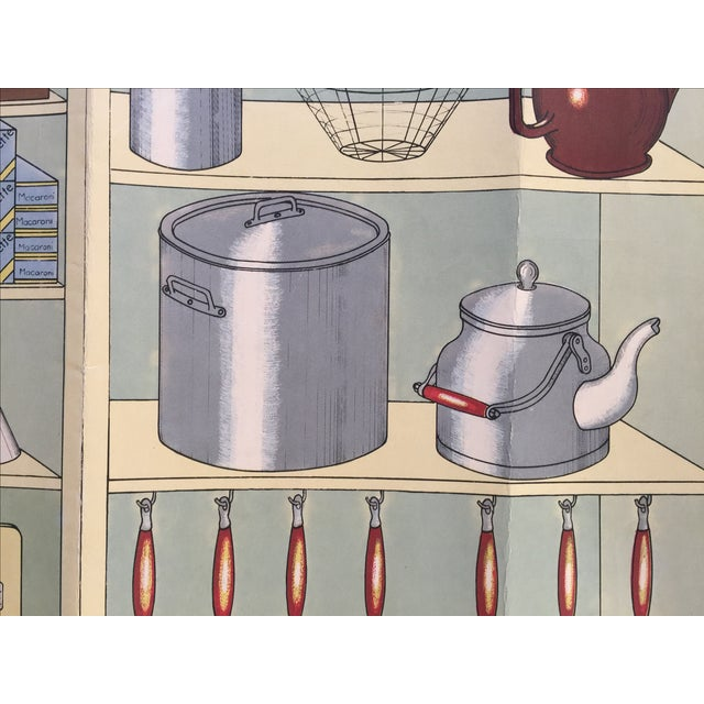 French Vintage Kitchen Cupboard School Poster - Image 6 of 8
