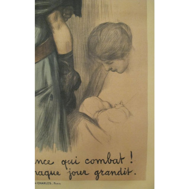 French 1917 French Vintage WW1 Propaganda Poster, 3e Emprunt For Sale - Image 3 of 5