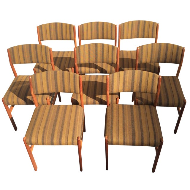 Spottrup Danish Teak Dining Chairs - Set of 8 - Image 1 of 10