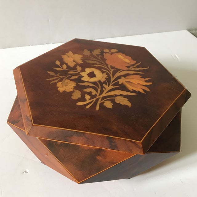 Reuge Sorrento Wood Jewelry Box For Sale In Houston - Image 6 of 6