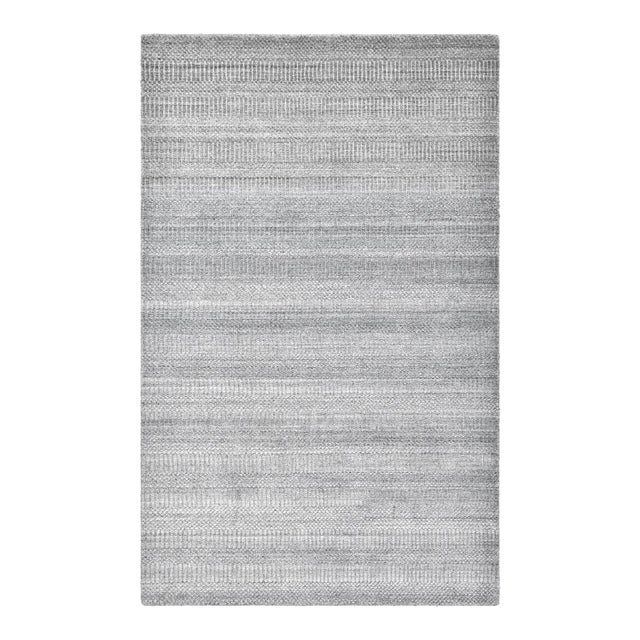 Sanam, Contemporary Solid Hand Loomed Area Rug, Gray, 8 X 10 For Sale - Image 9 of 9