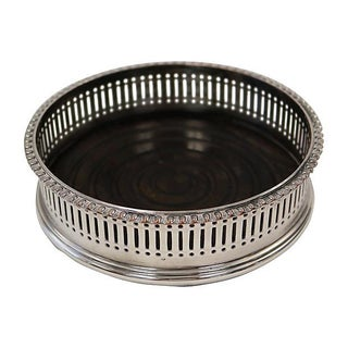 English Silver-Plate Wine Coaster