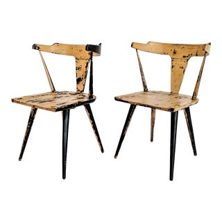1960s VintagePaul McCobb Planner Group Distressed Chairs - A Pair For Sale